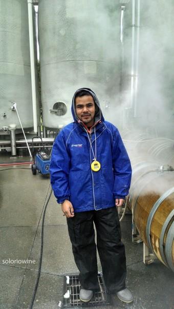 making wine in the rain